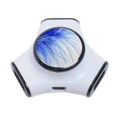 Feather Blue Colored 3 Port Usb Hub