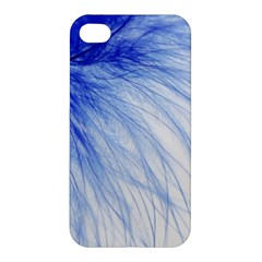 Feather Blue Colored Apple Iphone 4/4s Premium Hardshell Case