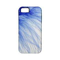 Feather Blue Colored Apple Iphone 5 Classic Hardshell Case (pc+silicone)