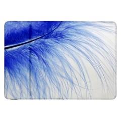 Feather Blue Colored Samsung Galaxy Tab 8 9  P7300 Flip Case