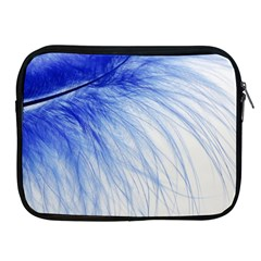 Feather Blue Colored Apple Ipad 2/3/4 Zipper Cases by Nexatart