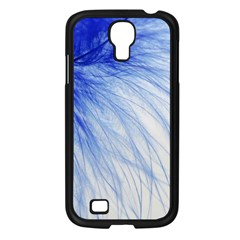 Feather Blue Colored Samsung Galaxy S4 I9500/ I9505 Case (black)