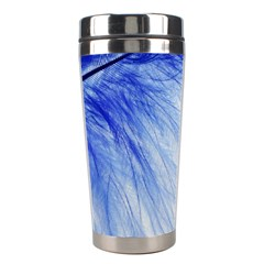 Feather Blue Colored Stainless Steel Travel Tumblers
