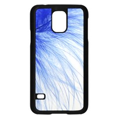 Feather Blue Colored Samsung Galaxy S5 Case (black)