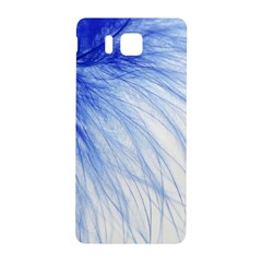 Feather Blue Colored Samsung Galaxy Alpha Hardshell Back Case