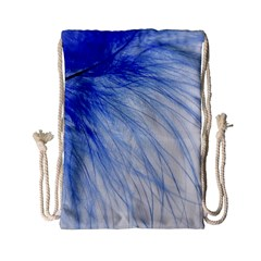 Feather Blue Colored Drawstring Bag (small)