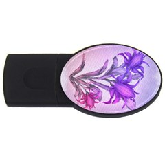 Flowers Flower Purple Flower Usb Flash Drive Oval (4 Gb)