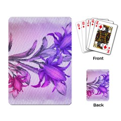 Flowers Flower Purple Flower Playing Card