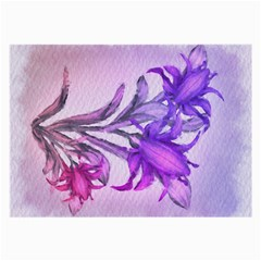 Flowers Flower Purple Flower Large Glasses Cloth (2 Side)