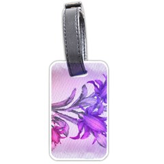 Flowers Flower Purple Flower Luggage Tags (one Side)