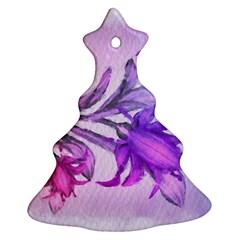 Flowers Flower Purple Flower Christmas Tree Ornament (two Sides)
