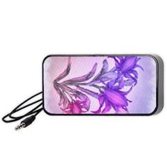 Flowers Flower Purple Flower Portable Speaker