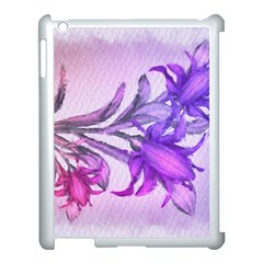 Flowers Flower Purple Flower Apple Ipad 3/4 Case (white) by Nexatart