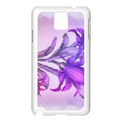 Flowers Flower Purple Flower Samsung Galaxy Note 3 N9005 Case (white) by Nexatart