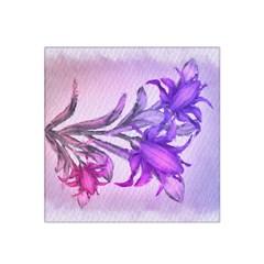 Flowers Flower Purple Flower Satin Bandana Scarf