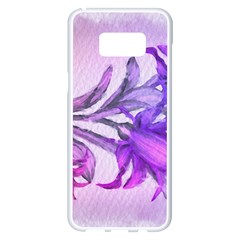 Flowers Flower Purple Flower Samsung Galaxy S8 Plus White Seamless Case