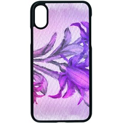 Flowers Flower Purple Flower Apple Iphone X Seamless Case (black) by Nexatart