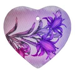 Flowers Flower Purple Flower Ornament (heart)