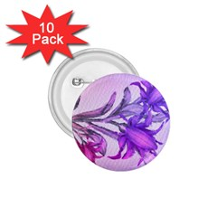 Flowers Flower Purple Flower 1 75  Buttons (10 Pack) by Nexatart