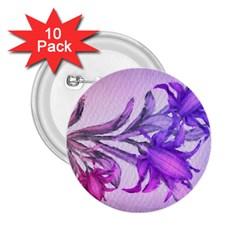 Flowers Flower Purple Flower 2 25  Buttons (10 Pack)  by Nexatart