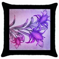 Flowers Flower Purple Flower Throw Pillow Case (black)