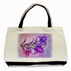 Flowers Flower Purple Flower Basic Tote Bag