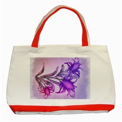 Flowers Flower Purple Flower Classic Tote Bag (red)