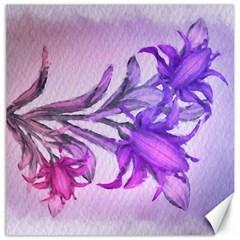 Flowers Flower Purple Flower Canvas 20  X 20