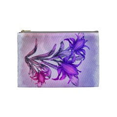 Flowers Flower Purple Flower Cosmetic Bag (medium)