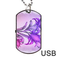 Flowers Flower Purple Flower Dog Tag Usb Flash (one Side)