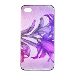 Flowers Flower Purple Flower Apple Iphone 4/4s Seamless Case (black)