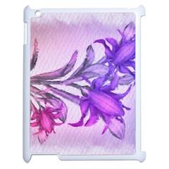 Flowers Flower Purple Flower Apple Ipad 2 Case (white) by Nexatart