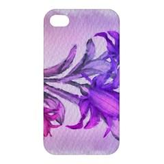 Flowers Flower Purple Flower Apple Iphone 4/4s Hardshell Case