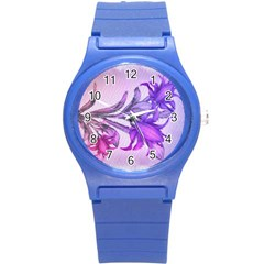 Flowers Flower Purple Flower Round Plastic Sport Watch (s)