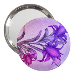 Flowers Flower Purple Flower 3  Handbag Mirrors
