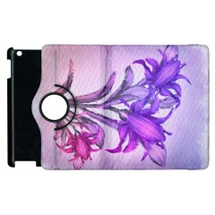 Flowers Flower Purple Flower Apple Ipad 3/4 Flip 360 Case