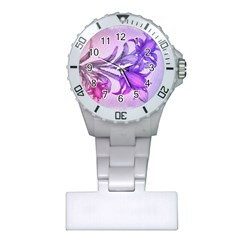 Flowers Flower Purple Flower Plastic Nurses Watch