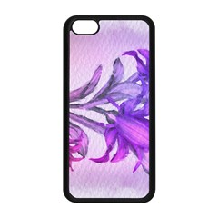 Flowers Flower Purple Flower Apple Iphone 5c Seamless Case (black) by Nexatart