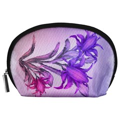 Flowers Flower Purple Flower Accessory Pouches (large)