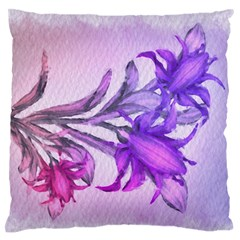 Flowers Flower Purple Flower Standard Flano Cushion Case (one Side)