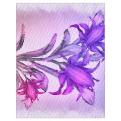 Flowers Flower Purple Flower Drawstring Bag (large)
