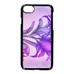 Flowers Flower Purple Flower Apple Iphone 8 Seamless Case (black) by Nexatart