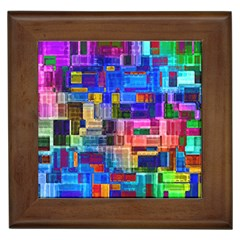 Background Art Abstract Watercolor Framed Tiles