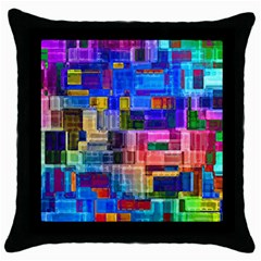 Background Art Abstract Watercolor Throw Pillow Case (black)