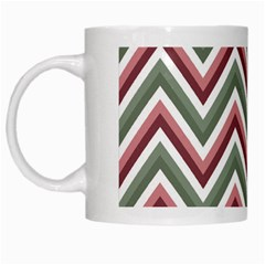 Chevron Blue Pink White Mugs by snowwhitegirl