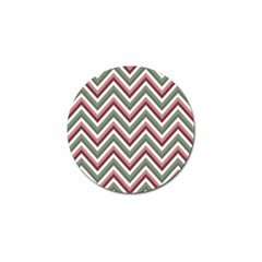 Chevron Blue Pink Golf Ball Marker (4 Pack)