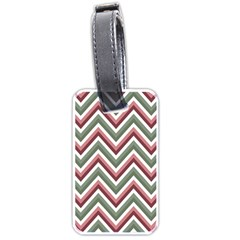 Chevron Blue Pink Luggage Tags (one Side)