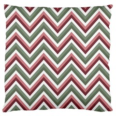 Chevron Blue Pink Large Flano Cushion Case (one Side) by snowwhitegirl