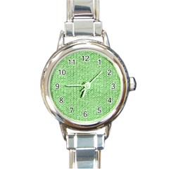 Knittedwoolcolour2 Round Italian Charm Watch