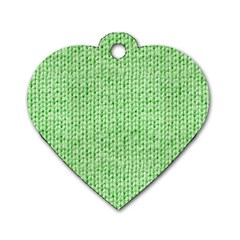 Knittedwoolcolour2 Dog Tag Heart (two Sides)